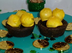 Sparkly Bites of Joy – Pot of Gold Cake Balls
