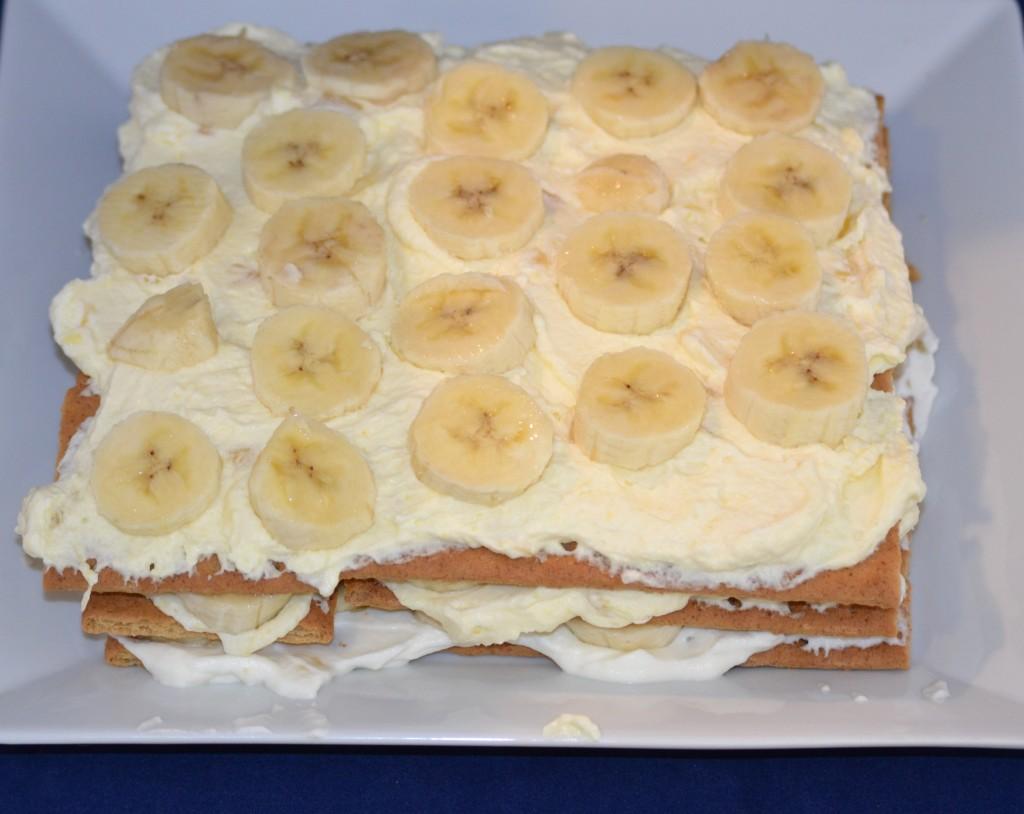 icebox cake whipped cream banana layers