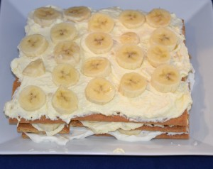 icebox cake whipped cream banana layers