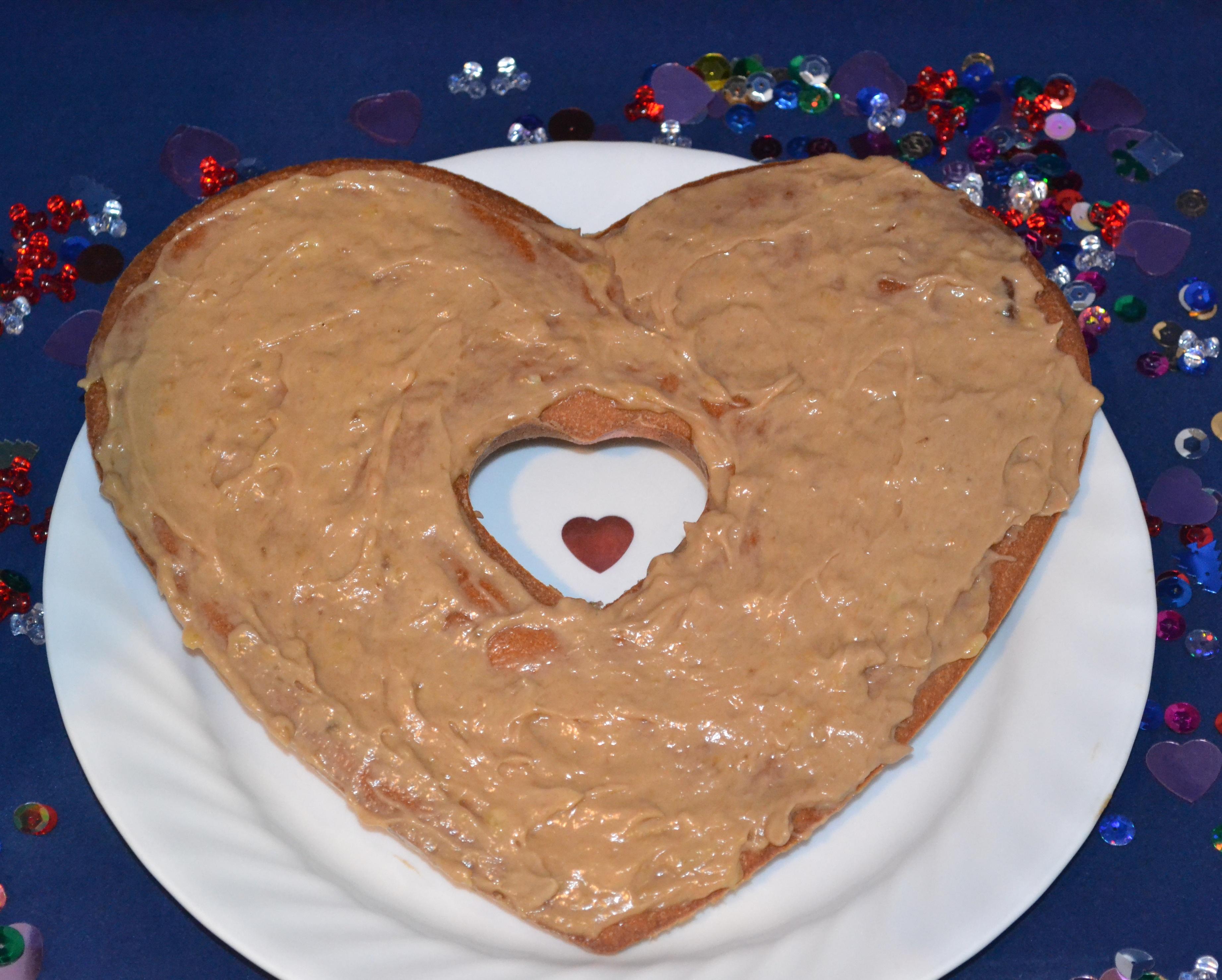 Heart cake dog treat