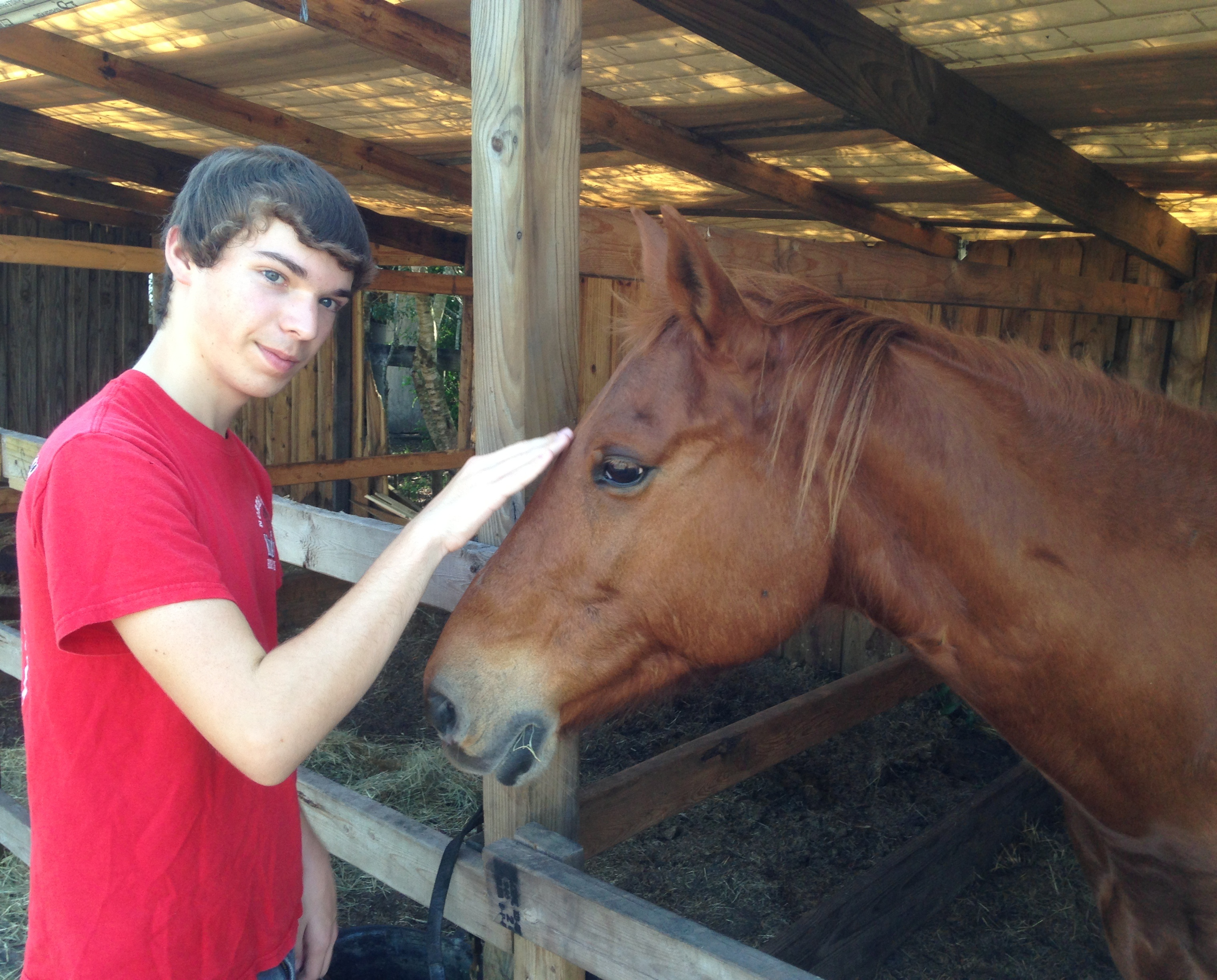 Kai and horse