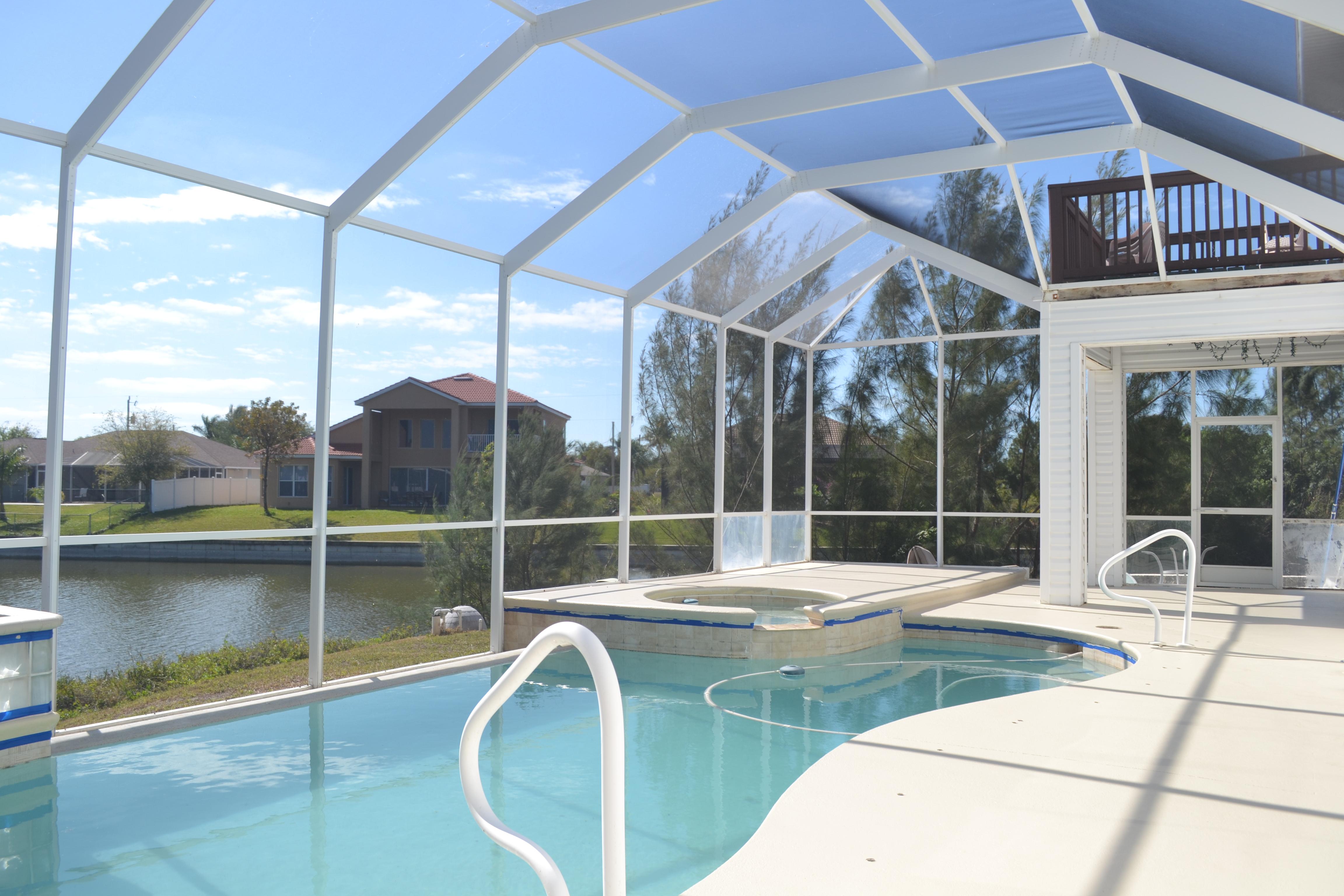 Pool deck painted