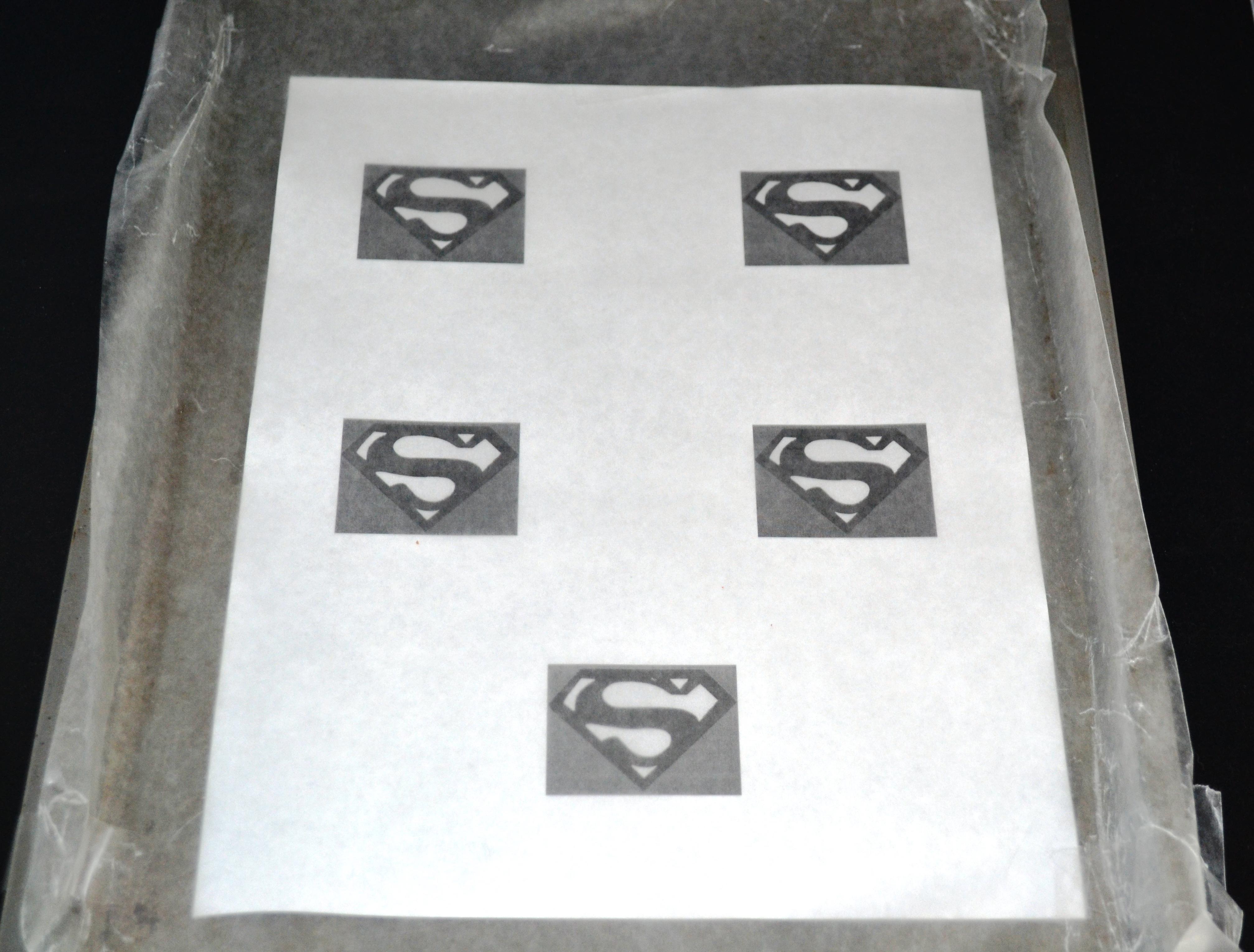 Superman emblem wax paper