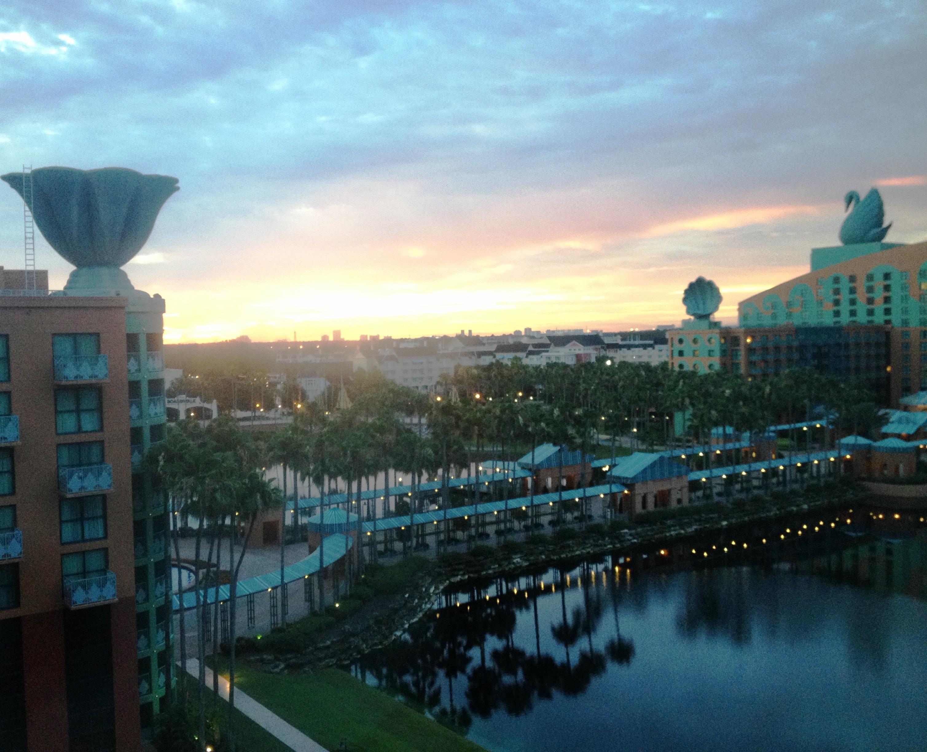 sunrise at Disney