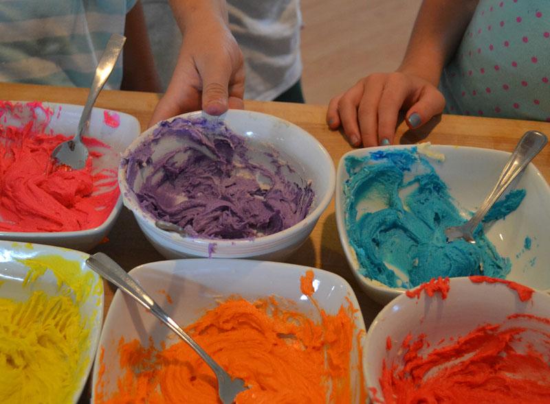 unicorn cookies colors