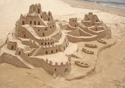 sand castle in brazilian beach