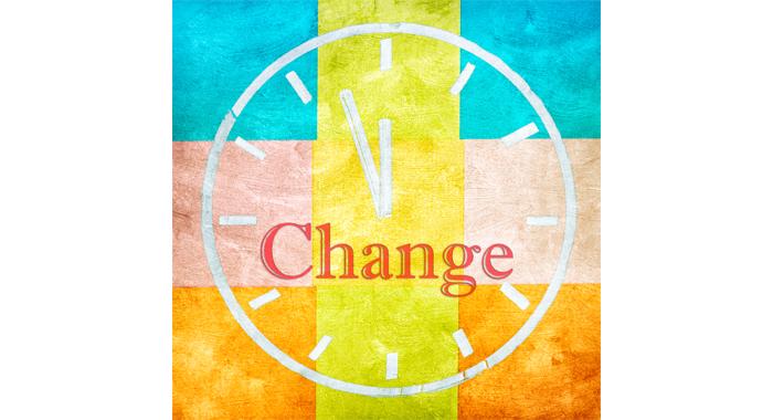 Time for change blog image